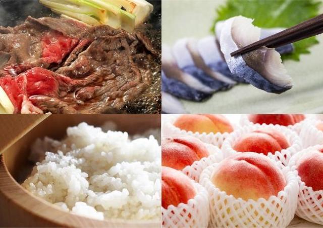 福島県産品が30%オフ! 福島牛、コシヒカリ、桃、ウニ...どれも美味しそう。