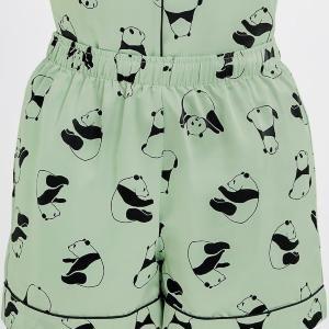 ミントカラー良き。 GUのパンダパジャマ、可愛すぎないか?