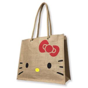 キティの顔をデザインした激カワ「ジュート製エコバッグ」 地球にも優しいよ
