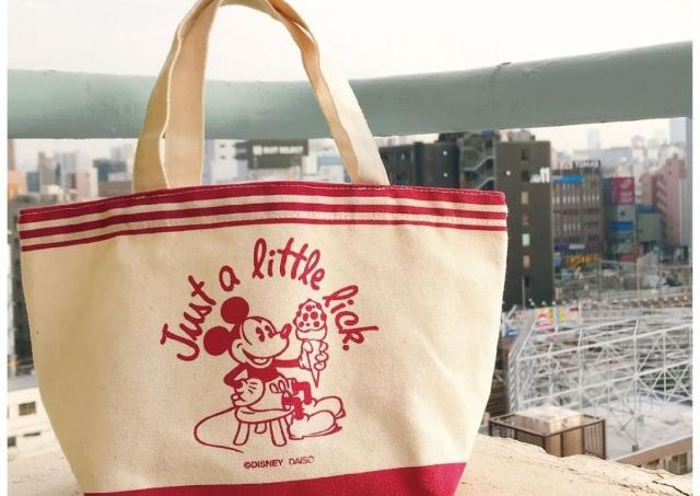 ダイソーのディズニーストア化が止まらない...。ミニトートは200円。