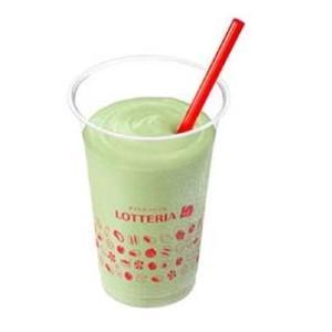 宇治抹茶シェーキが230円→100円に! 7月はロッテリア通うしかないな。