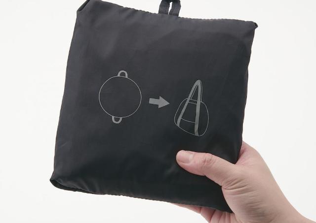 「こういうの探してた」 絞るだけでたためる無印エコバッグ、便利だよ。