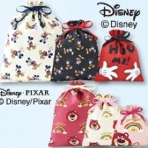 ミッキー、ロッツォの巾着が3つで500円!? しまむら行かなきゃ。