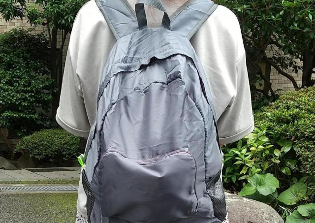 「折りたたみリュック」が300円!? ダイソーでエコバッグによさそうな商品見つけた。