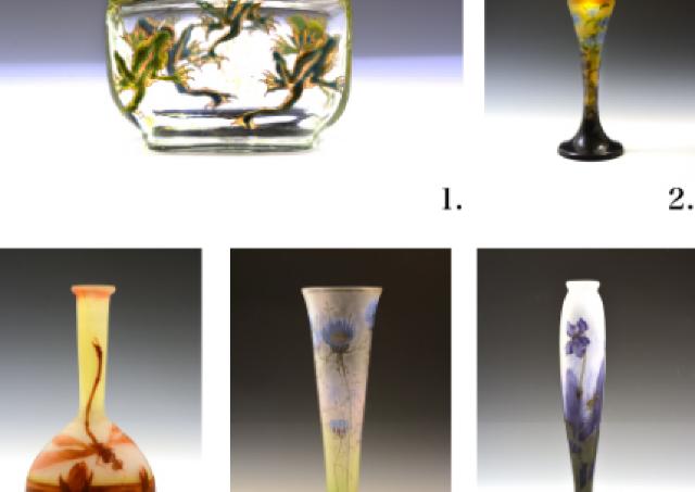 ガラス芸術作品が集結「ガレ&ドーム兄弟アールヌーヴォーガラスの美展」