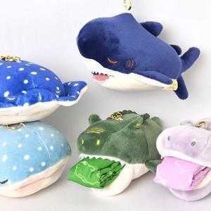 サメやワニの口からエコバッグ~! マスコットとしても可愛すぎる...。