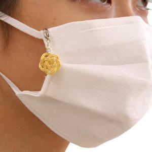 まるでイヤーアクセみたい。 可愛い和柄のマスクチャーム、500円くらいで買えるよ~。