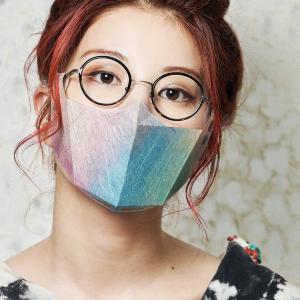 メガネに「吊るす」和紙ますく 画期的な発想で息苦しさ軽減。