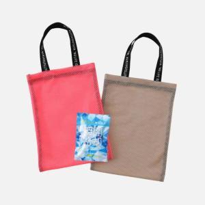 靴下屋オリジナルのメッシュバッグもらえる! エコバッグに最適だよ。