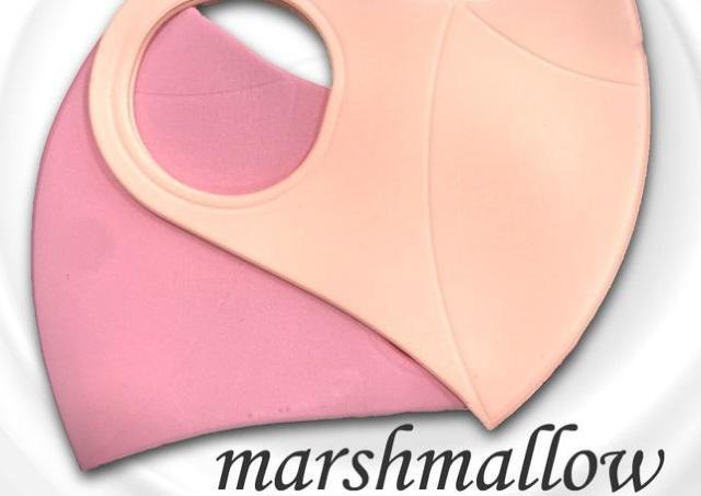 柔らかな肌触りの「マシュマロマスク」 耳ひも一体型で快適なつけ心地