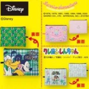 ディズニー、サンリオポーチが300円! しまむら行かなきゃ。