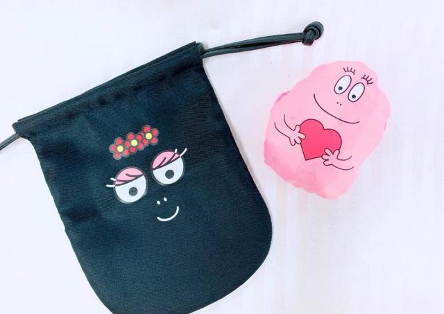 大容量バッグは畳むと「バーバパパ」の顔に! 付録でゲットできるよ~。