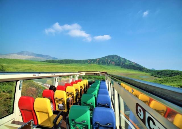 大自然を感じよう! 「二階建てオープンバスで巡る阿蘇」