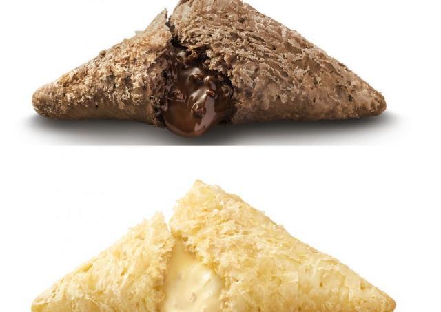 マック「三角チョコパイ」今年は白と黒。 クリーム増し増し、どっちから食べる?