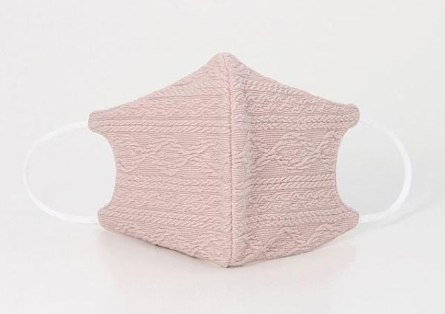 ハニーズのケーブル柄マスクに新色登場! 甘すぎない大人可愛いピンクだよ。