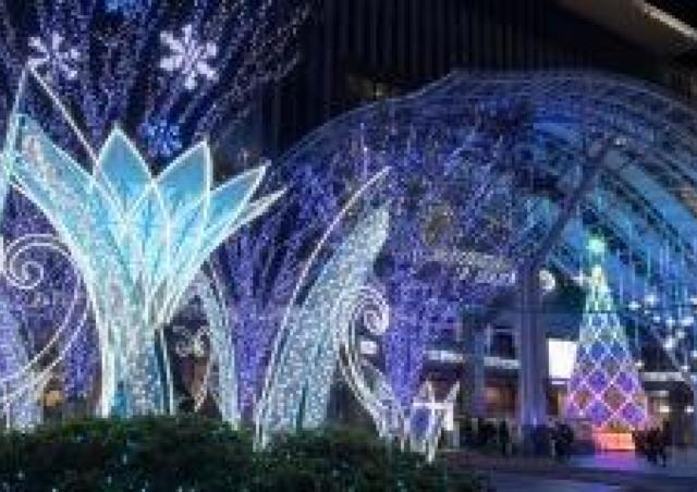 80万球のイルミネーションにエールを込めて「光の街・博多」点灯