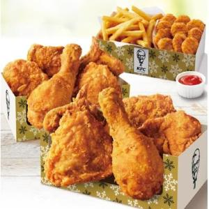 【KFC】大ボリューム「ウィンターパック」再び!チキンやポテト存分に召し上がれ。