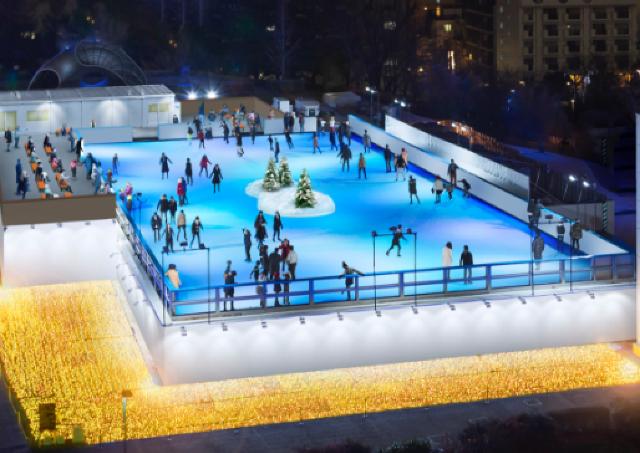 今年も東京ミッドタウンに屋外アイススケートリンクが登場