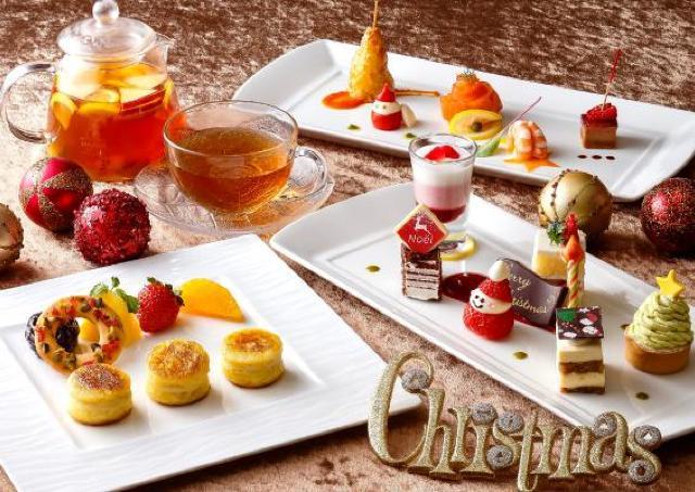 スイーツもアミューズも ホテルオークラ神戸「クリスマスアフタヌーンティー」
