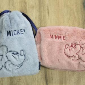 【ダイソー】ふわもこのミキミニ巾着ポーチ「可愛すぎて即購入」200円でいいの!?