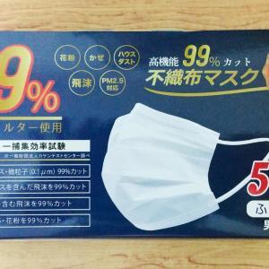 ついにマスクが1枚10円以下に!業務スーパーで50枚入り・492円の箱マスク発見。