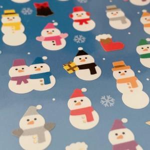 Snow Manファンが作ったん?ダイソー「雪だるまシール」色も組み合わせも完璧。