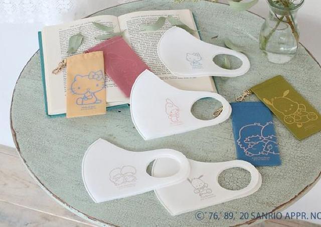 【サンリオ】推しキャラでコロナ対策!マスク&抗菌ポーチのセットが大人可愛い。
