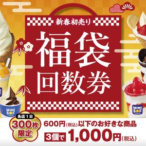 ソフトクリーム好きさん集合!ミニソフの「福袋回数券」は最大800円分お得だよ。