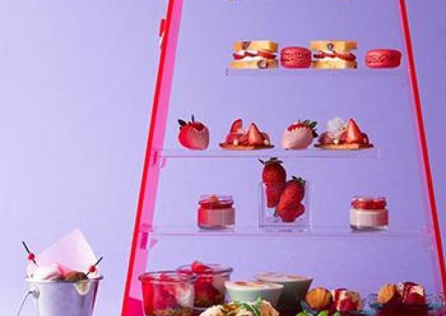 イチゴが主役のスペシャルランチを満喫 ヒルトン大阪