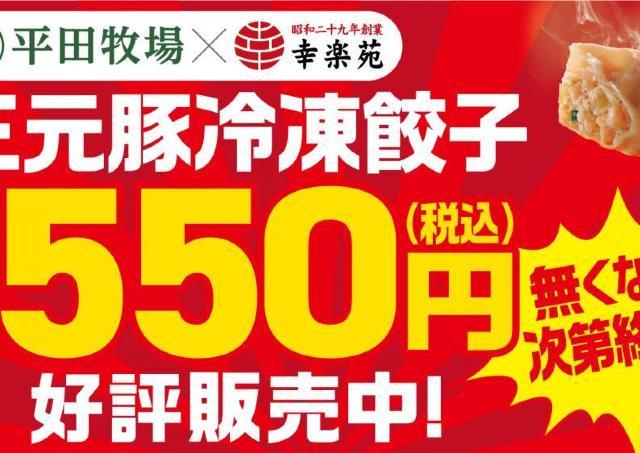 30個入りが550円!幸楽苑の冷凍餃子、今が買い時かも。