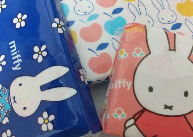 【セリア】ミッフィーのポケットティッシュが「外も中も可愛い」4個100円だよ。