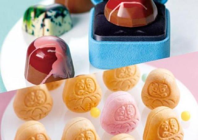 宝石チョコ、老舗のもなか、ポテチも登場。チョコとあんこの魅力が満載!