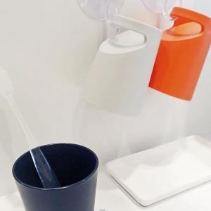 ダイソーのコップがハイセンス!引っかけてすっきり収納、水切りも便利だ。
