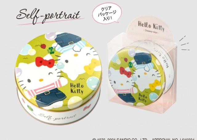 ハローキティの「ミニゴーフル」缶めっちゃ可愛い!3種そろえたい。