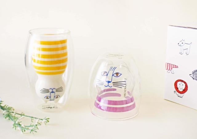 リサ・ラーソンのダブルウォールグラス、ただものではない感がすごい。