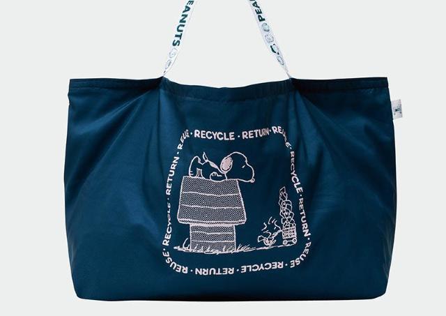 【スヌーピー】可愛いだけじゃない!レジかごサイズで時短にもなるエコバッグだよ。