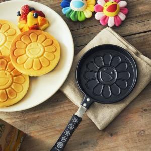 【急げ】村上隆さんの「お花」パンケーキ焼ける!付録のフライパン可愛すぎ!