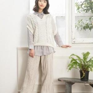 【しまむら】春のワントーンコーデがおしゃれ。近藤千尋さん着用アイテム新作!