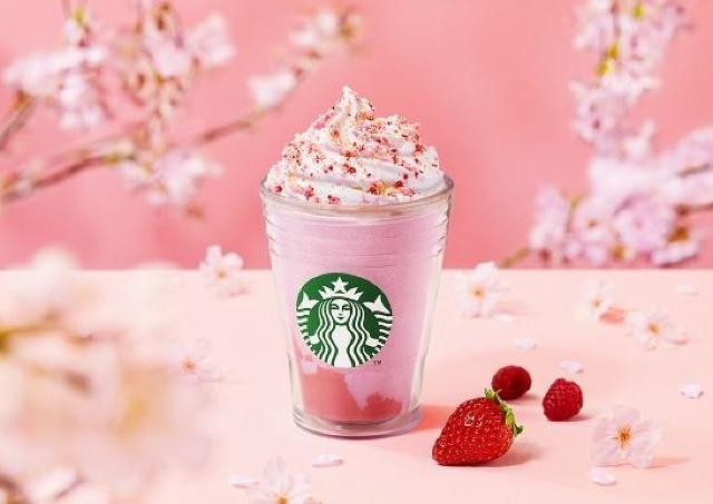 【スタバ】「桜フラペ」新バージョンは急いで飲まなきゃ!ストロベリー風味がアップするって。
