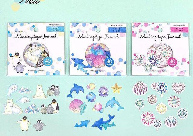 【100円】イルカ、花火、ペンギン...人気の激カワ「フレークシール」今年も買わなきゃ。