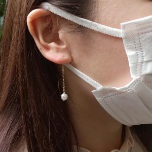 キャンドゥのイヤーカバーは2役をこなす優れもの。マスク紐が痛くないしピアスみたいで可愛い!