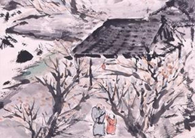 富岡鉄斎をはじめ明治から昭和にかけての日本画家の作品を展示