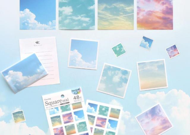 うっとりしちゃう。青空、夕焼け...美しい「空」デザインの文具が100均に登場!