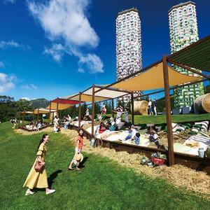 星野リゾートトマムに全長30メートル「巨大牧草ベッド」が登場