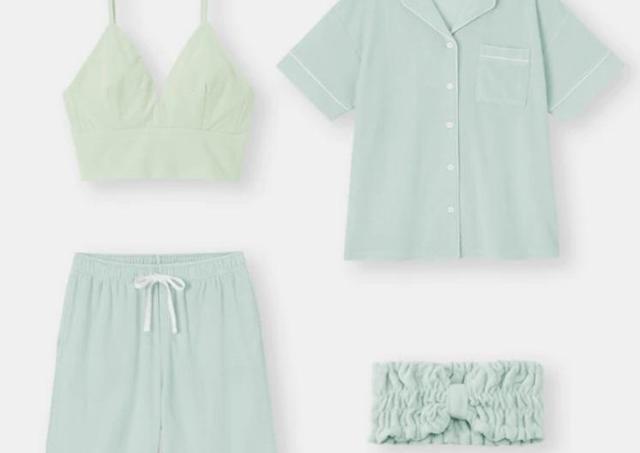 【GU】接触冷感でひんやり!「ミント配合」パジャマが夏によさげ。