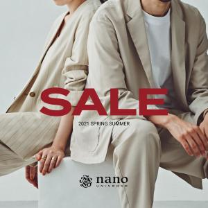 ナノ・ユニバースが最大50%オフの夏セール!機能性トップスやおしゃれワンピがお得