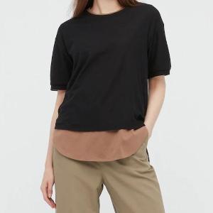 【ユニクロ】390円はお得すぎ!「ほどよい透け感」のTシャツはイロチ買い余裕。
