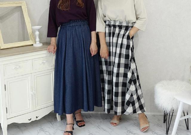 しまむら×ANSERI秋の新作スカートが可愛い!体型をカバーしつつも楽な履き心地。