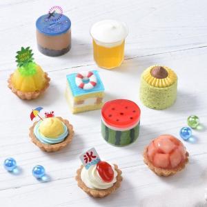 夏いっぱいのプチケーキ、最高に可愛い!コージーコーナー急がなきゃ。