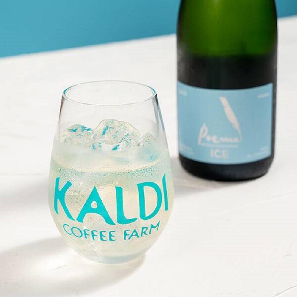 【カルディ】オリジナルワイングラスもらえる!色が変わるロゴがおしゃれ。